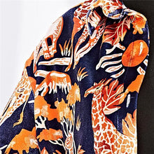 Load image into Gallery viewer, Vacation Casual Loose Floral Button V Collar Long Sleeve Blouse