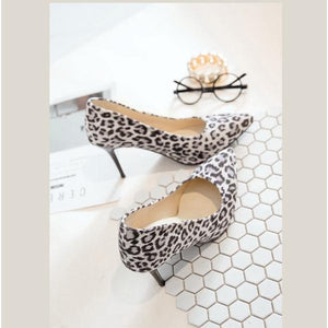 Leopard Printed Pointed Toe Stiletto Pumps