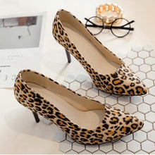 Load image into Gallery viewer, Leopard Printed Pointed Toe Stiletto Pumps