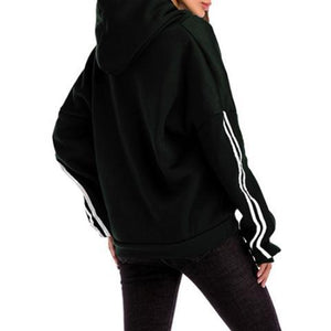 Fashion Loose Plain Thicken Hoodie With Hat