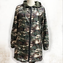 Load image into Gallery viewer, Fashion Camouflage Print Long Sleeve Zipper Outwear