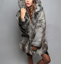 Load image into Gallery viewer, Fashion Fakefur With Ears And Fur Coats