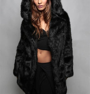 Fashion Fakefur With Ears And Fur Coats