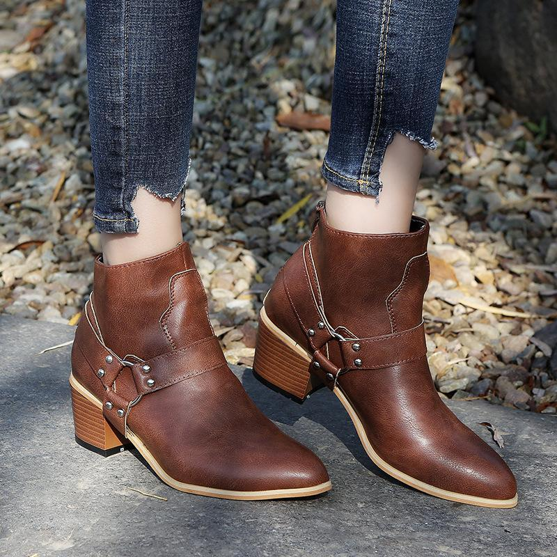 Fashion Boots With Zipper Women Boots