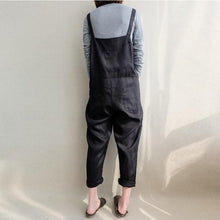 Load image into Gallery viewer, Vintage Plain Casual Packets Loose Jumpsuit