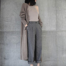 Load image into Gallery viewer, Casual Loose Plain Knit Long Cardigan