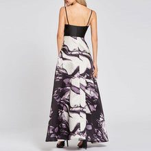 Load image into Gallery viewer, Sexy Deep V Collar Split Joint Floral Printed Evening Dress