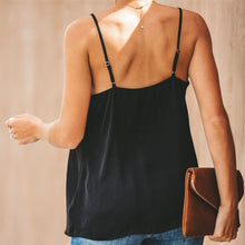 Load image into Gallery viewer, Casual Sleeveless Solid Color Camisole Top T-Shirt