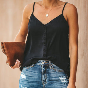 Casual Sleeveless Solid Color Camisole Top T-Shirt