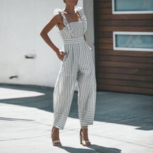 Load image into Gallery viewer, Fashion Casual Striped Jumpsuit