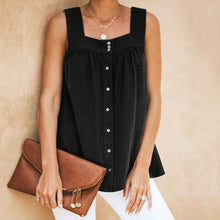 Load image into Gallery viewer, Casual Square Neck Wrinkle Loose Sleeveless Garment Top