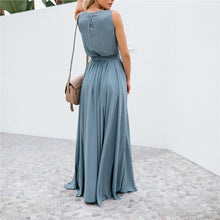 Load image into Gallery viewer, Solid Color V-Neck Sleeveless Big Swing Sexy Dress