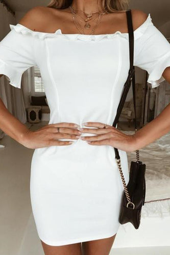 One Shoulder Bag Hip Mini Dress