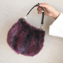 Load image into Gallery viewer, Plush Small Bucket Bag With Crossbody Bag