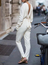 Load image into Gallery viewer, V-Neck Halter Street Style Fashion Jumpsuit