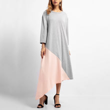 Load image into Gallery viewer, Fashion Plain Long Sleeve Casual Dress Maxi Dress