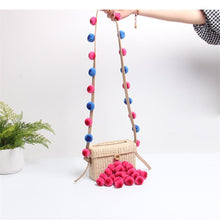 Load image into Gallery viewer, Colored Ball Decorative Weave Crossbody Bag