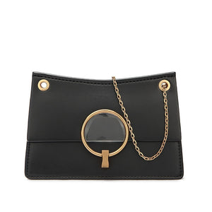 Metal ring single-shoulder bag