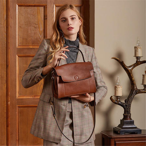 Commuter casual wild leather shoulder bag
