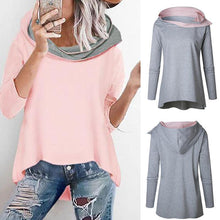 Load image into Gallery viewer, Fashion Loose Hooded Irregular Casual Sweater
