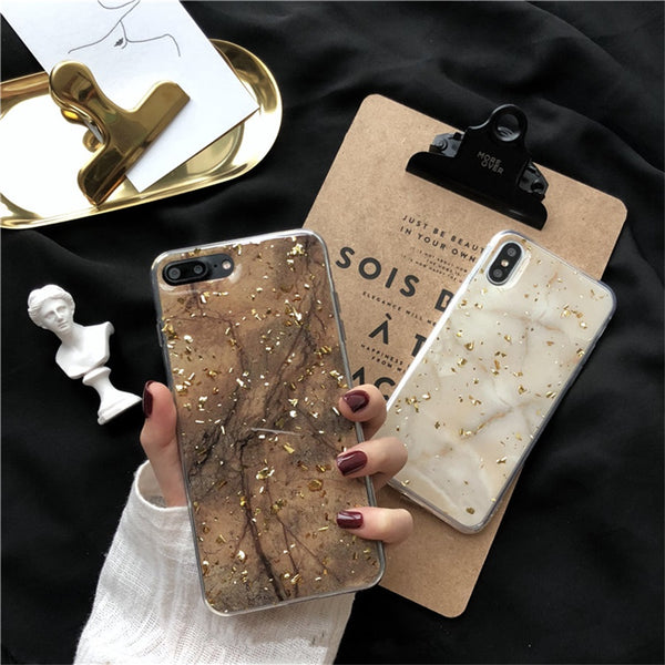 Gold Flake Marble Case