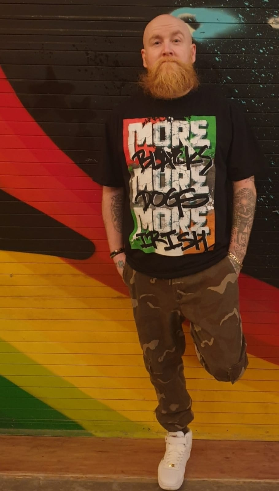 More Blacks More Dogs More Irish Graffiti Tee