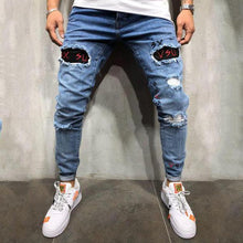 Load image into Gallery viewer, Men's Broken Embroidered   Trousers Jeans