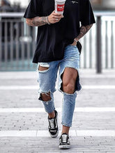 Load image into Gallery viewer, Men's Fashion Casual Big Broken Hole Jeans