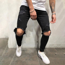 Load image into Gallery viewer, Fashion Casual Broken Hole Slim Fit Jeans