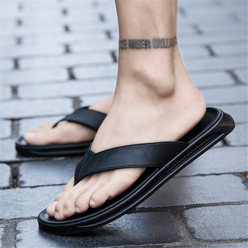 Men's Soft Toe Flat Slippers