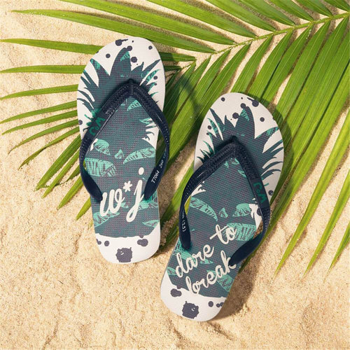 Men's Personality Pineapple   Print Flat Slippers
