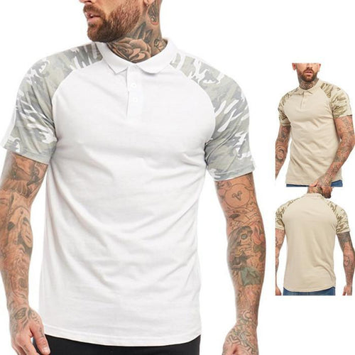Men's Summer 3D Print Lapel Short Sleeve T-Shirt
