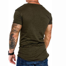 Load image into Gallery viewer, Casual Pure Colour Basic Slim Fit T-Shirt