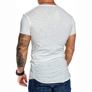 Casual Pure Colour Basic Slim Fit T-Shirt