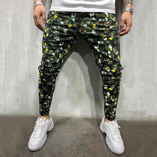 Men's Camouflage 3D Printed Casual Trousers