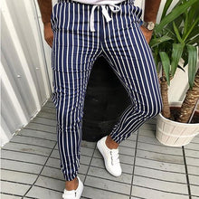 Load image into Gallery viewer, Men's Fashion Colorblock Striped Slim Casual Pants