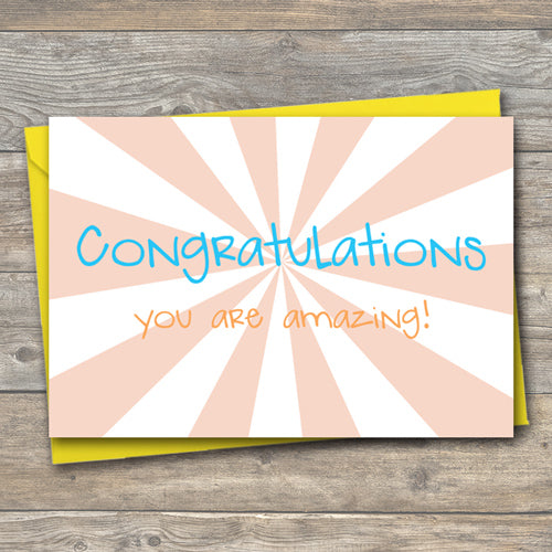 Congratulations You are Amazing - Antler Arts