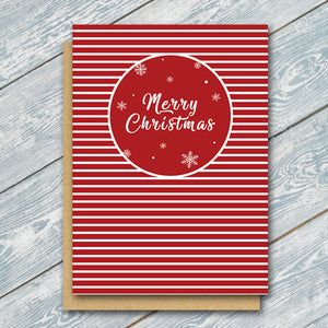 Red Christmas Stripes - Antler Arts