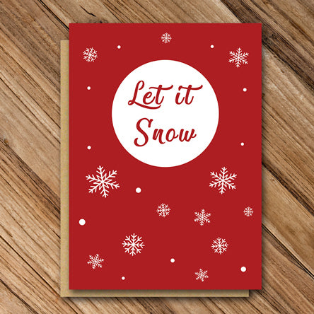 Red Christmas Let it Snow - Antler Arts