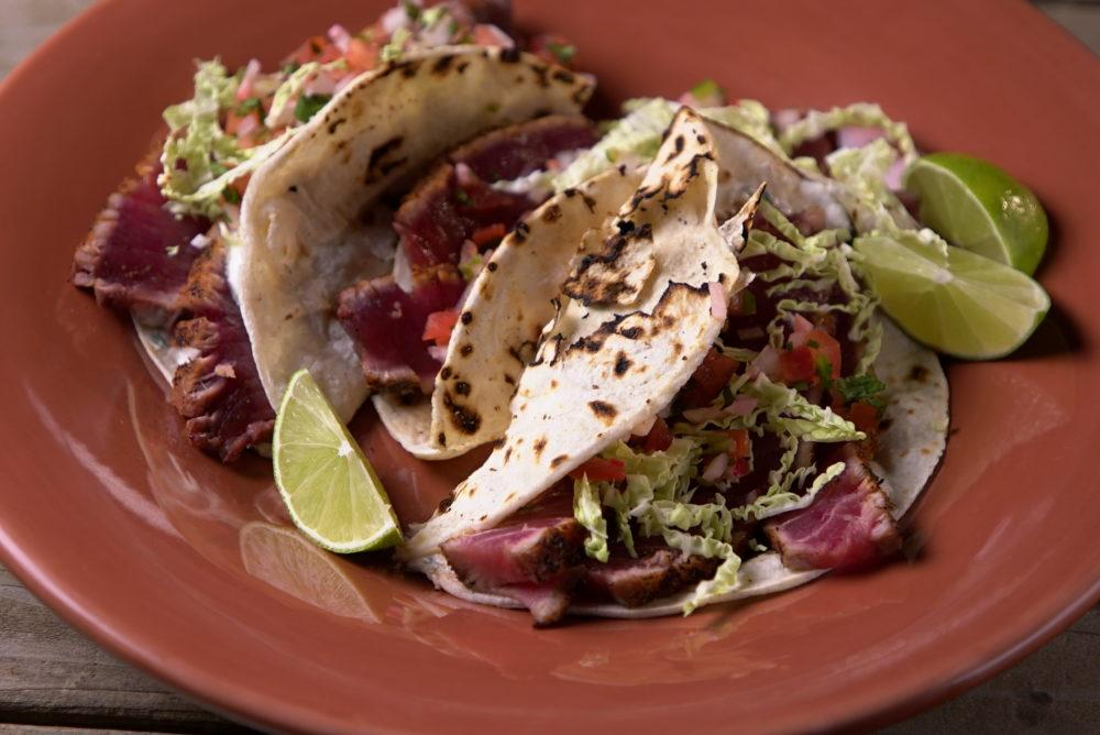 Tuna Tacos with Tequila Crema - Steven Raichlen Recipe #9