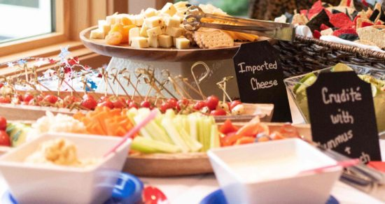 chic chalkboards and hors d'oeuvres
