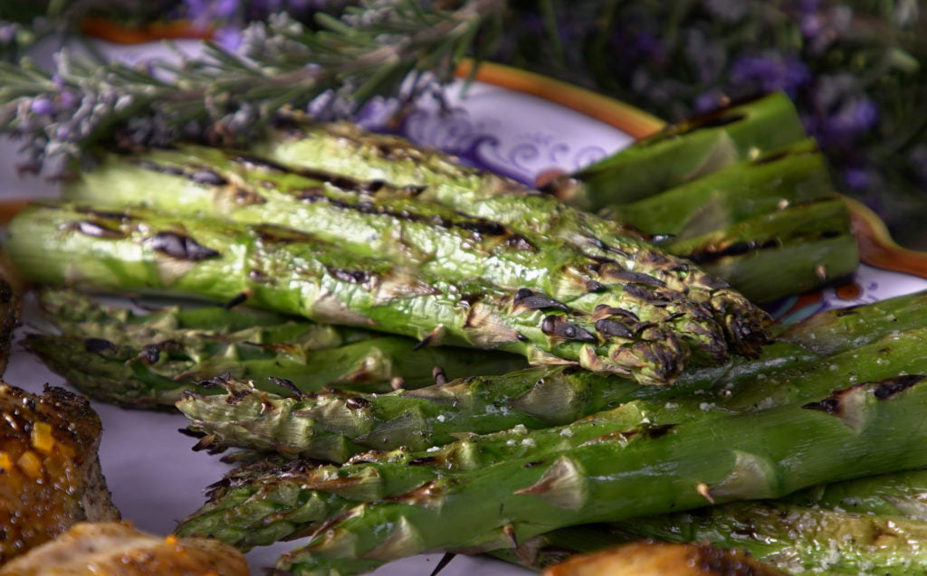 Platter of Grilled Asparagus