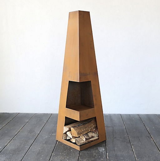 steel obelisk chiminea