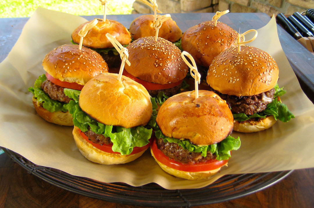 plate of truffle burgers