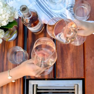 Toasting best summer rose wines at the Angara table