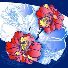 Load image into Gallery viewer, Asian Poppy Flower Layered and vector file