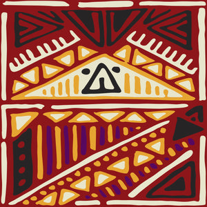 Ethnic Tribal Artwork vector file 4 color combinations