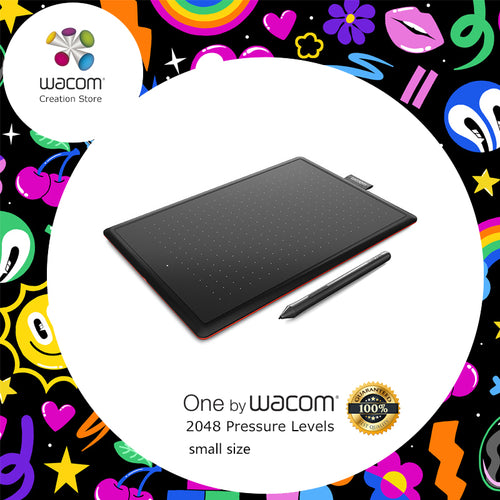 One by Wacom CTL-472 Digital Tablet Graphic Drawing Tablets 2048 Pressure Levels + 1 Year Warranty