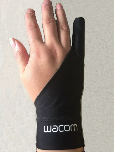Black 1 finger anti-fouling gloves wacom drawing writing painting digital tablet glove  wholesale