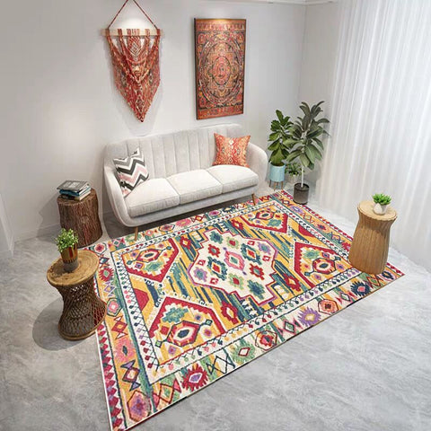 Moroccan Living Room Carpet Vintage Home Bedroom Rug Large Sofa Coffee Table Floor Mat Bohemia Study Room Floor Rug Kids Carpets